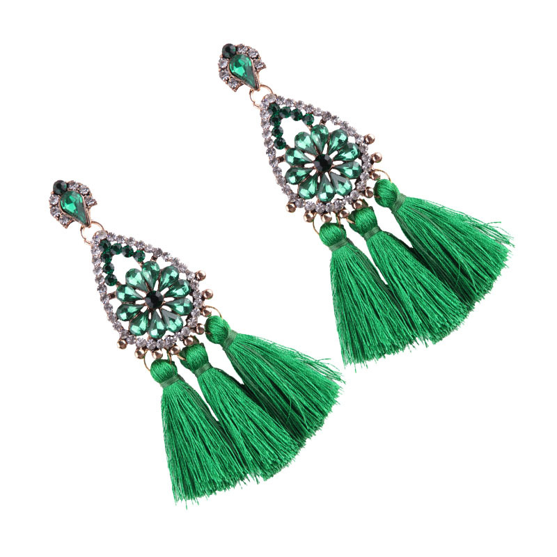 Occident and the United States alloy hand made earring (green)NHJQ9189-green