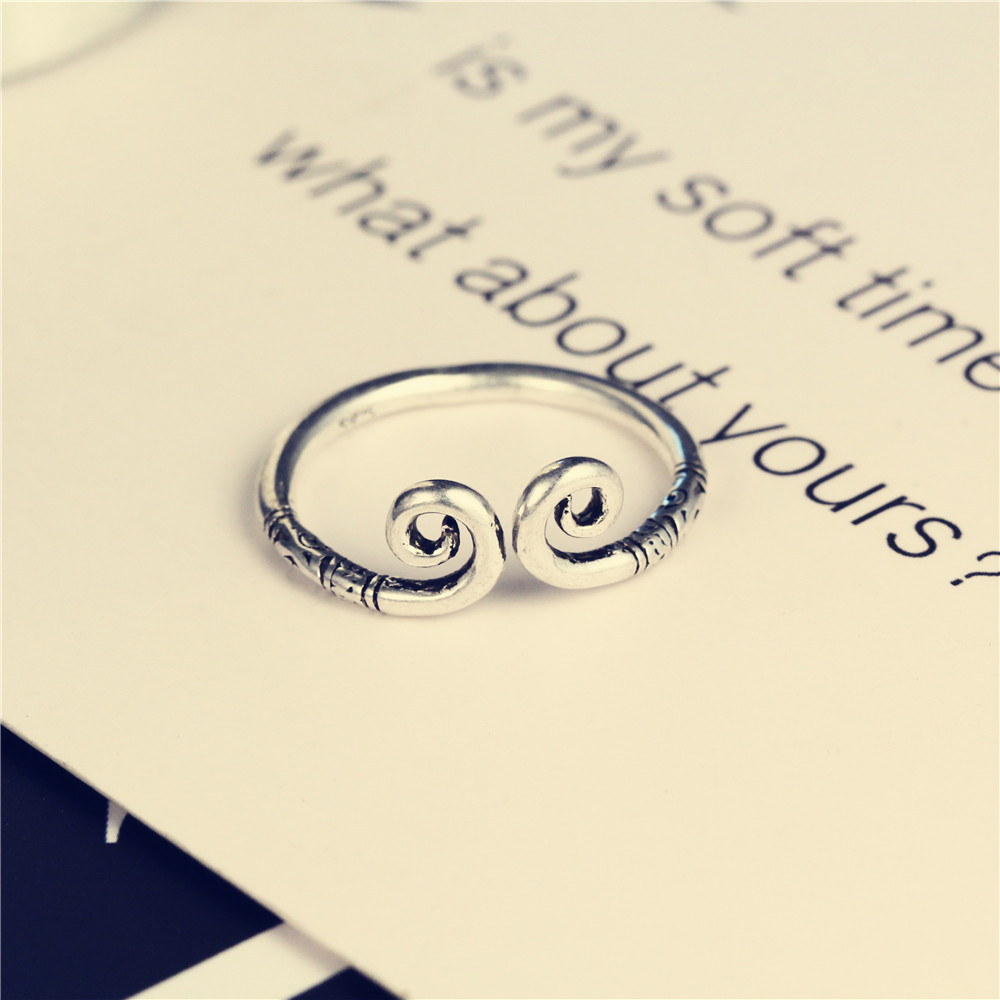 Retro alloy plating Ring (Ancient silver)NHIM0747-Ancient silver