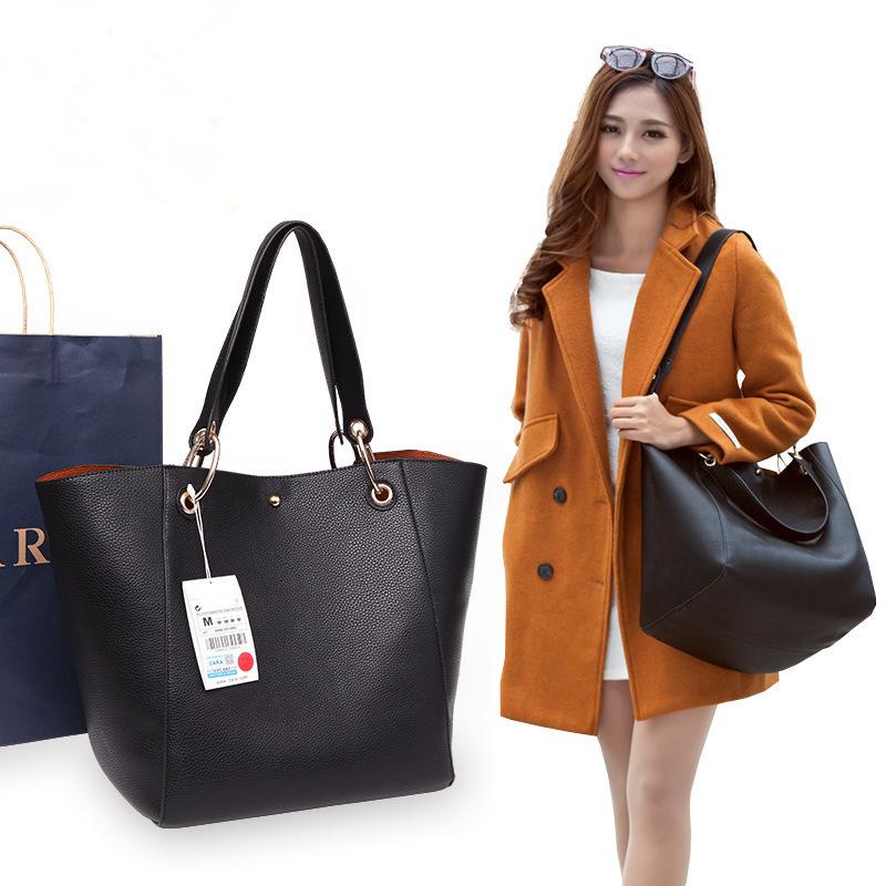 批发欧美女包正品代购外贸女包2018新款复古简约单肩手提包潮包
