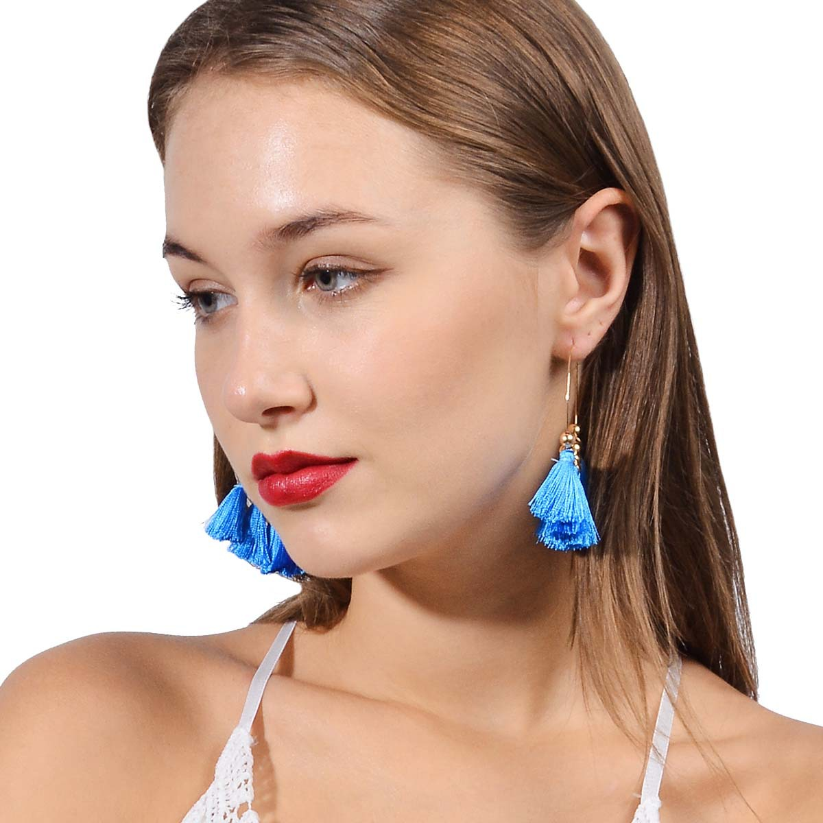 Occident and the United States alloy plating earring (B0803 rose red)NHXR1463-B0803 rose red