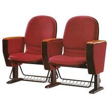 礼堂椅影院布艺座椅培训会议椅带写字板 公共座椅礼堂椅生产厂家