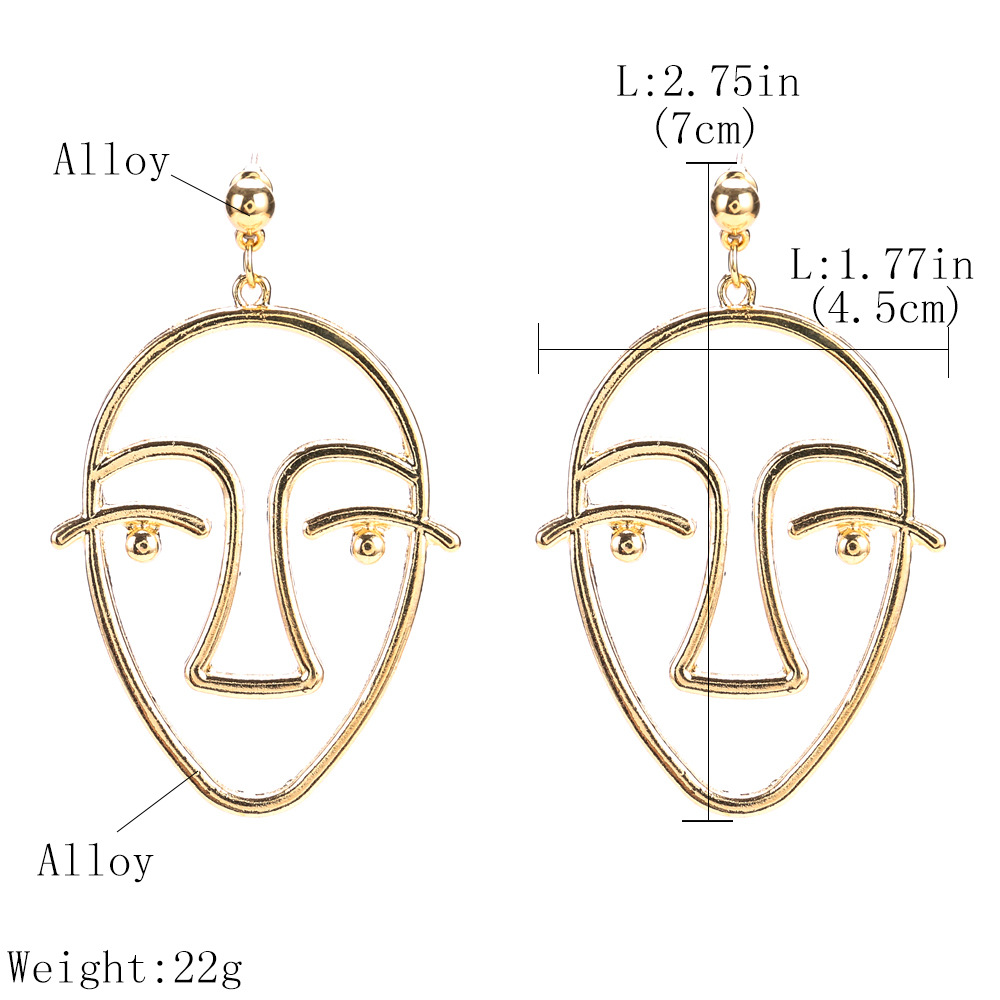 Occident and the United States alloy plating earring (Silver)NHJE0505-Silver