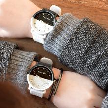 情侣手表 韩国新款大表盘男女对表学生?#24418;?#23383;控原宿复古正品手表