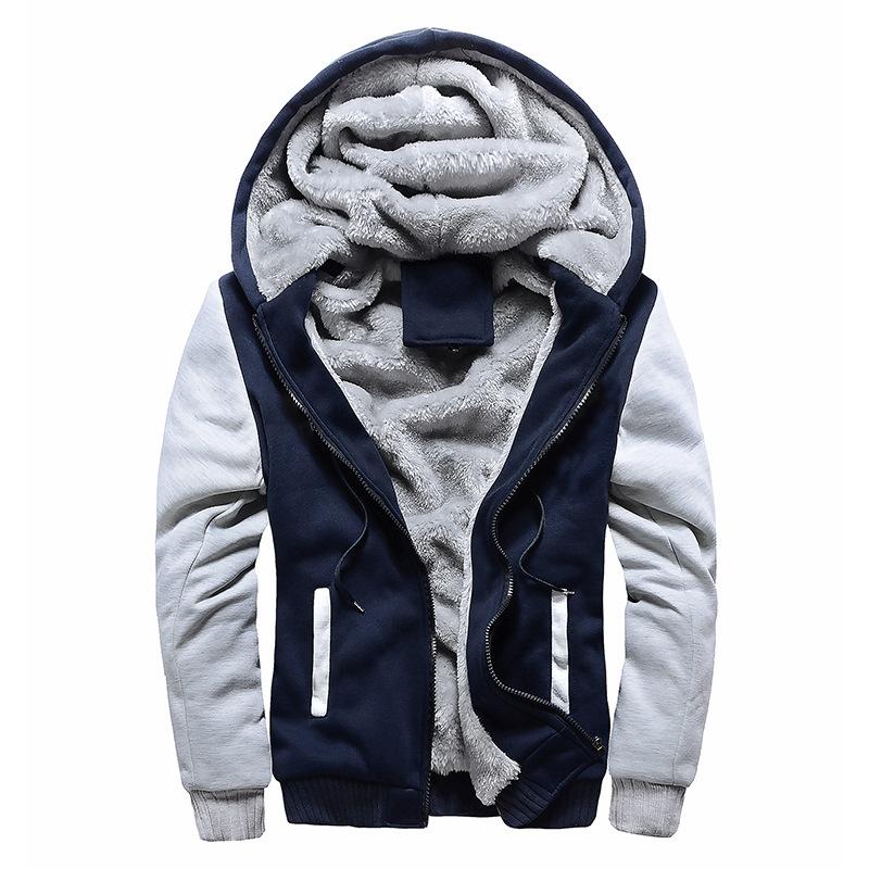 大货男式卫衣连帽秋冬装男棒球服男韩版运动加绒加厚男装外套