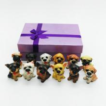 zakka欧式创意礼品12名犬树脂家居工艺品摆件?#32533;?#23454;用汽车饰品