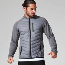 肌肉兄弟冬季新款男式保暖棉服个性拼接运动健身棉衣休闲运动外套