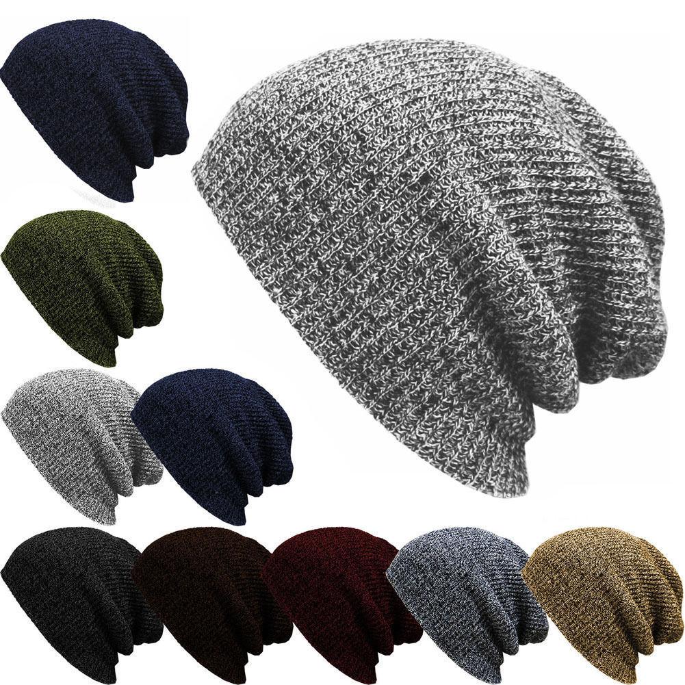 爆款帽子 条纹套头帽 男女士秋冬保暖毛线帽 欧美户外针织帽(4)