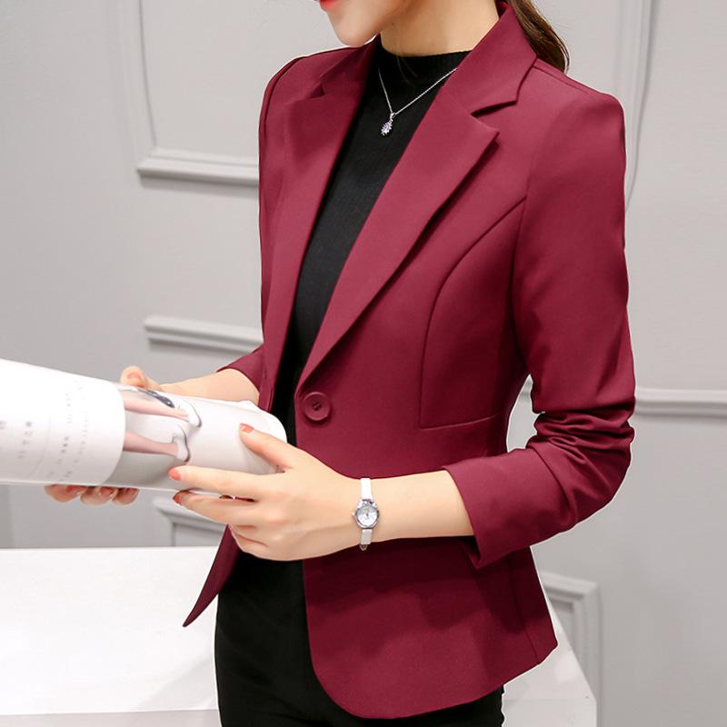 អាវក្រៅនារី Small Suit Women Casual All-match Long-sleeved Jacket PZ805792