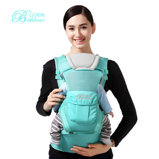 Bass bear shoulders breathable baby and child lumbar stool strap detachable three-purpose maternal and child travel supplies wholesale OEM