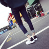 2017 new spring lace white shoe leather casual shoes female female color thick soles increased white shoes running F02