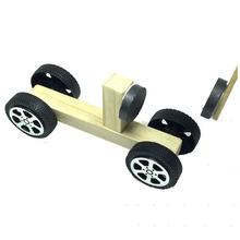 儿童智力开发玩具科技小制作diy材料 小学生科学实验套装磁力小车