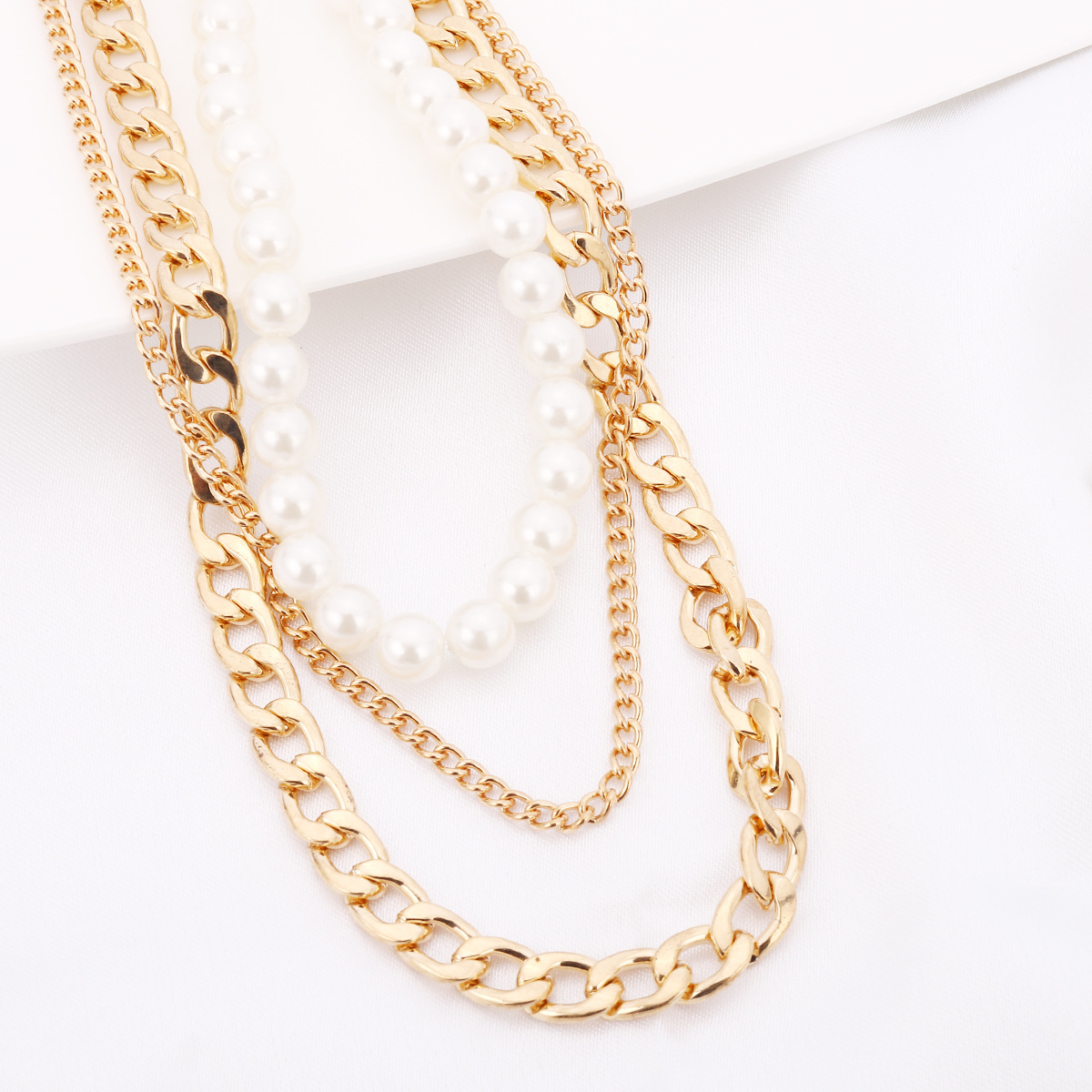 Fashion Alloy plating necklace Geometric (Gold -1630)NHXR1661-Gold -1630