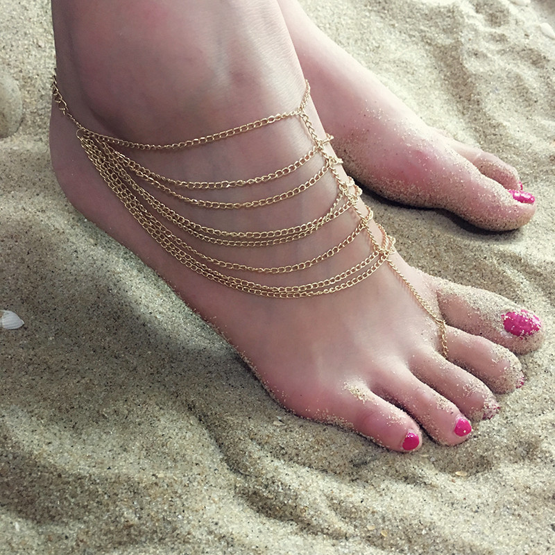 Europe and the United States alloy plating Anklet (Gold)NHGY0601-Gold