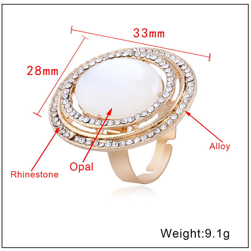 Occident and the United States alloy plating Ring (KC Gold - White - One Size)NHKQ1162-KC Gold - White - One Size