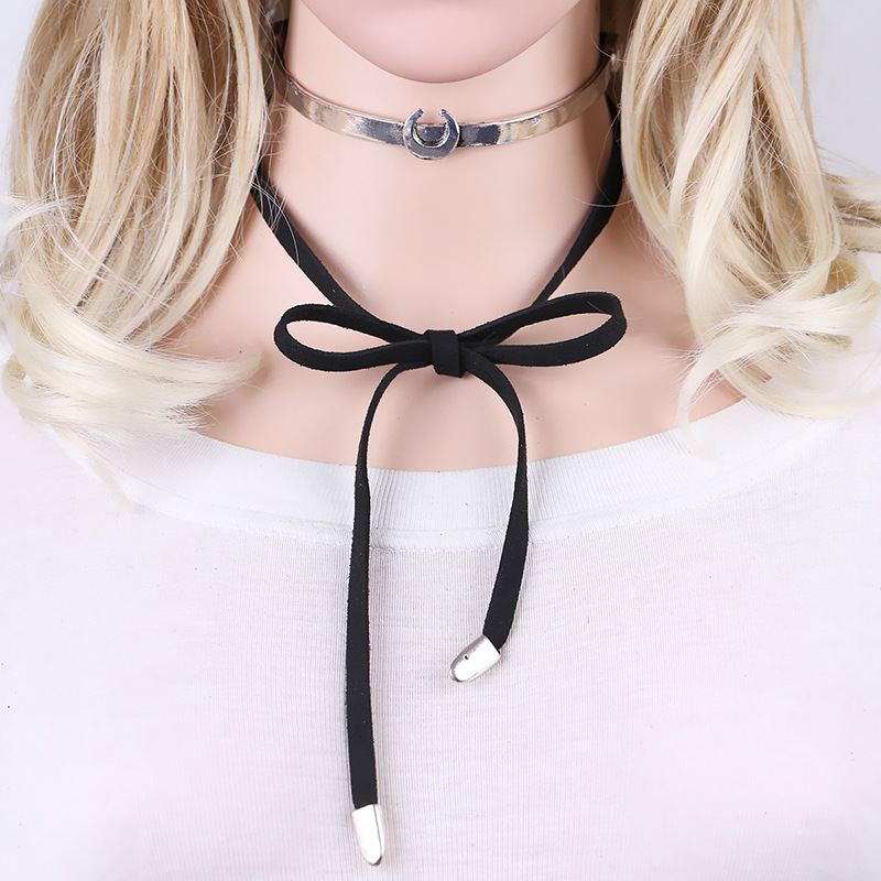 Fashion Alloy plating necklace Geometric (As shown)NHKM2499-As shown