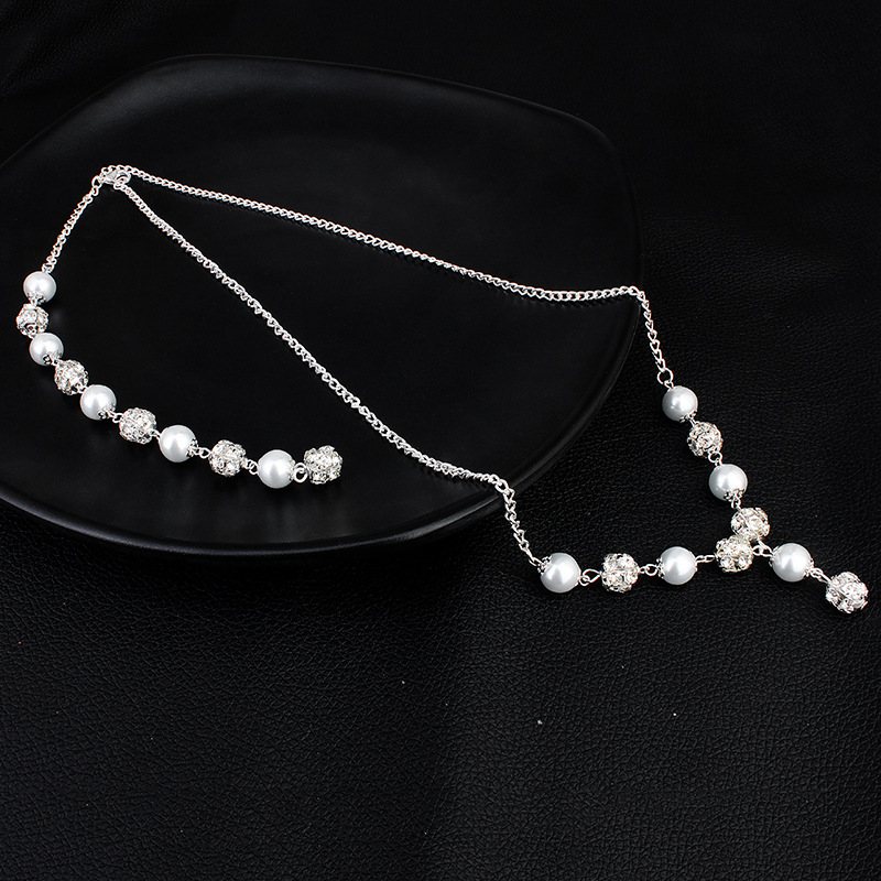 Beads Simple Geometric necklace  (Alloy) NHHS0291-Alloy