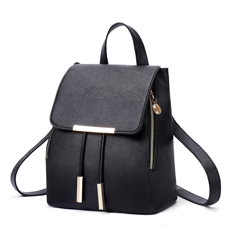 2018 New Style Double Zip Iron Edge Drawstring Flap Pu Korean-style Toothpick With Shoulder Bag Fashion Charge Bags & Shoes