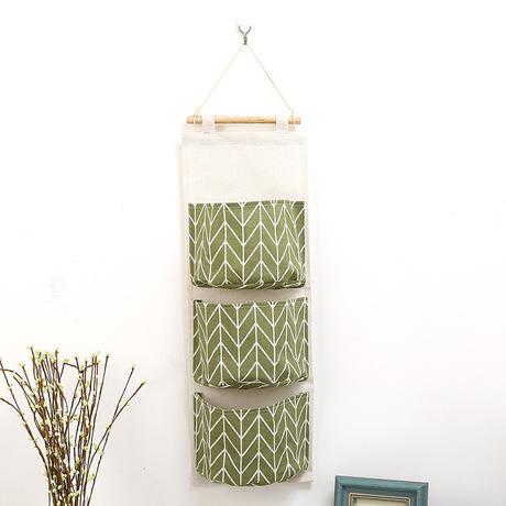 Sáng tạo bông và vải lanh lưu trữ không thấm nước treo túi treo nhiều lớp vải sling cửa phía sau túi lưu trữ mảnh vụn túi lưu trữ Túi treo