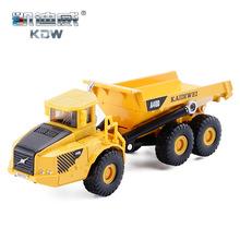 現貨凱迪威合金工程車模型1:87裝卸車獨立裝仿真兒童玩具翻斗貨車