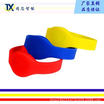厂家直销RFID硅胶手腕带 NXP S50硅胶IC手环 桑拿手表 RFID手腕带