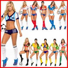 夜店演出服多款欧洲杯啦啦队服足球宝贝性感女装10号球衣批发零售