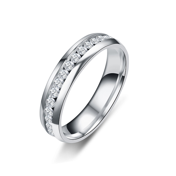 Unisex Weekly Ring Studded Titanium Steel Rings TP190418118134