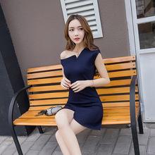 2020夏季新款韩版气质修身淑女弹力中长款收腰显瘦时尚连衣裙女装