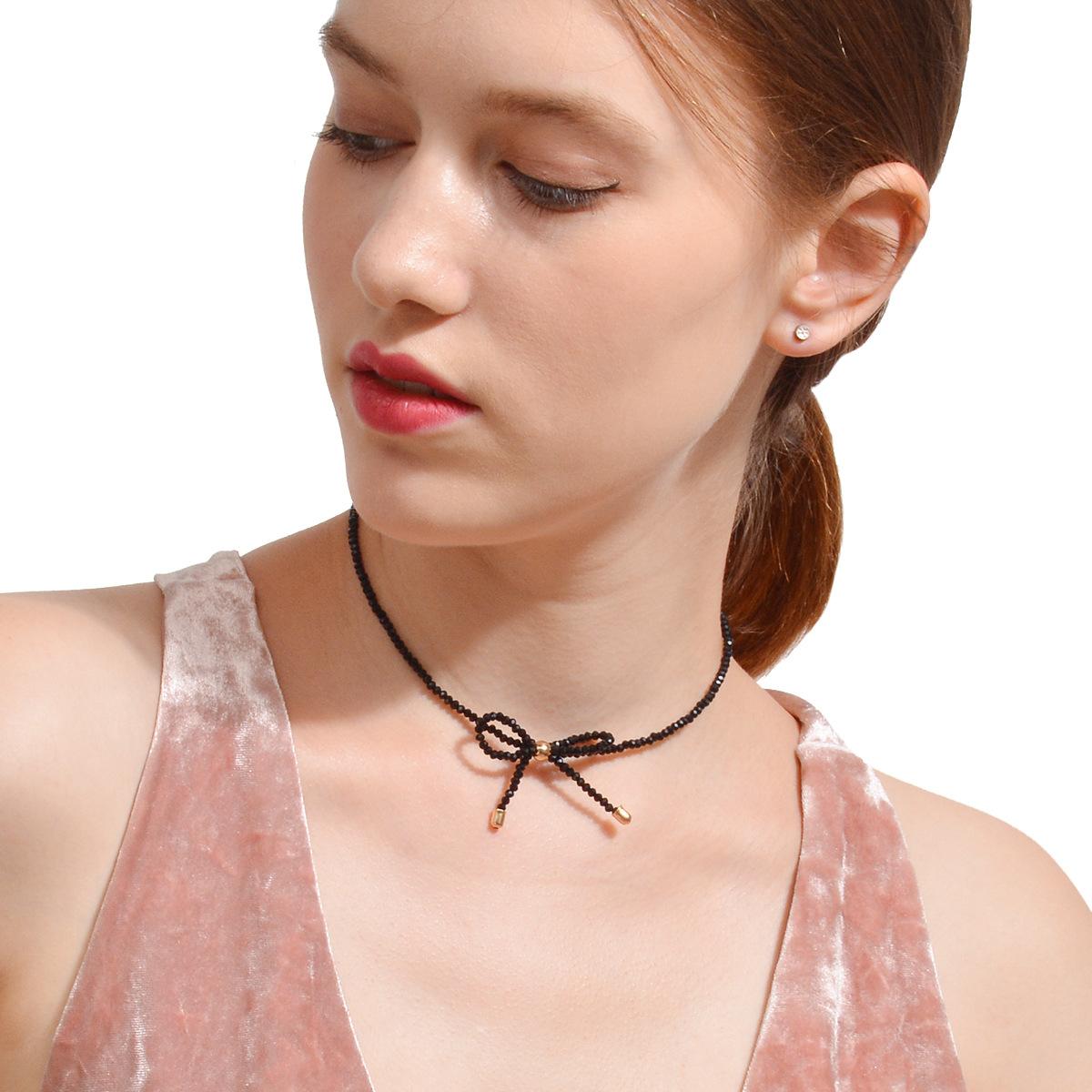 Simple alloy plating Necklace (C2188 black)NHXR1478-C2188 black