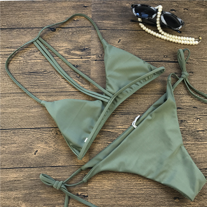 Polyester Fashion  Bikini  (Picture color-S)  Swimwear NHHL1926-Picture-color-S