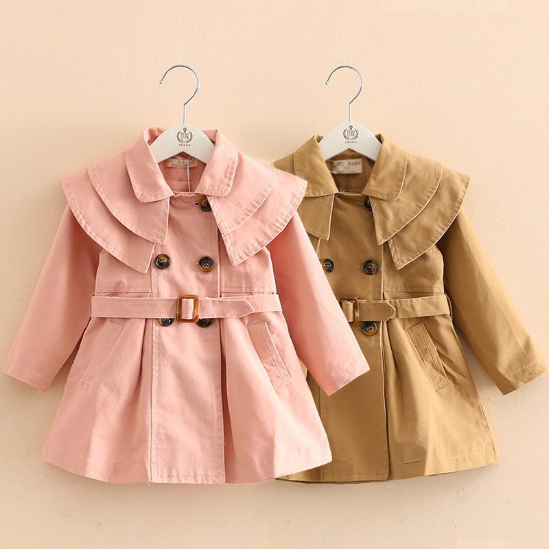 跨境儿童装外套一件代发春秋季新款棉布女童风衣韩版宝宝外套批发