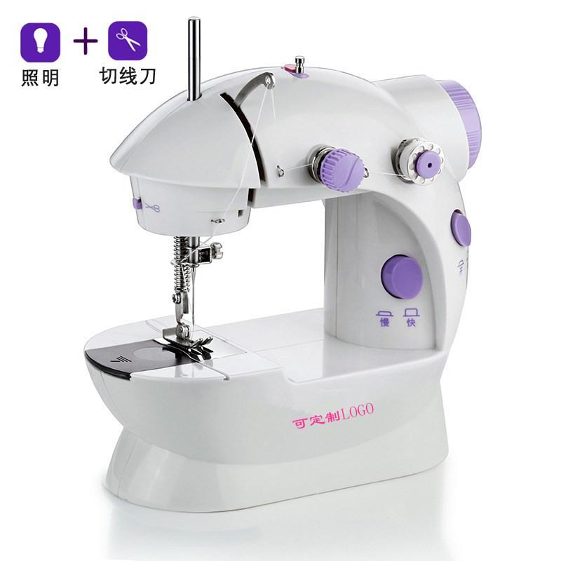 202微型多功能型缝纫机家用迷你便携缝纫机 美规欧规电源电动缝纫