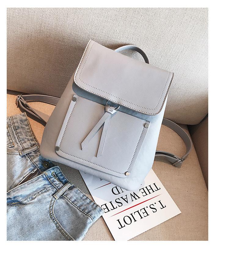 Korean version PUfashion bag (creamy-white)NHPB0085-creamy-white