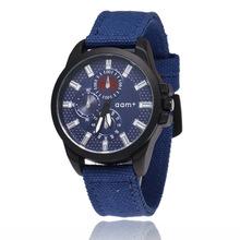 速卖通时尚运动手表 商务休闲三眼六针男表 男士布带表
