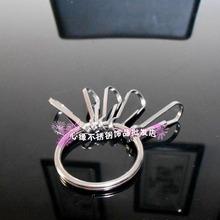 不锈钢卡圈猪胆扣锁匙扣 心缘个性管家财主环链鈅匙扣鈅匙圈一套