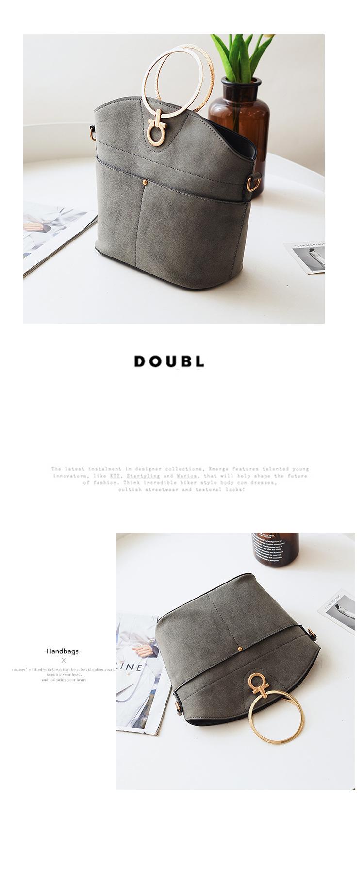 Korean version PUShoulder bag (gray)NHPB0278-gray