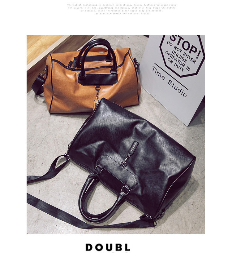 Korean version PUShoulder bag (brown)NHPB0333-brown