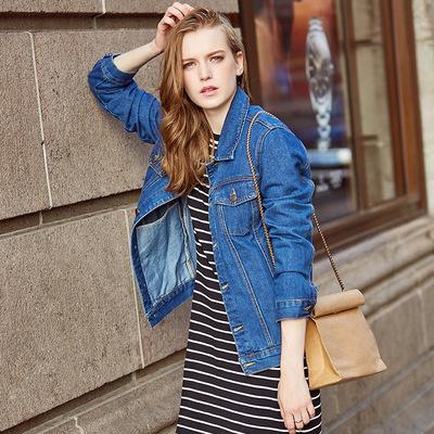 牛仔外套女秋冬装新款宽松学生韩版bf中长款加绒保暖夹克