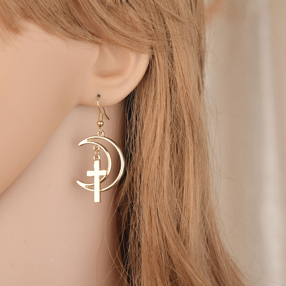 Simple metal plating earring (Silver)NHBQ0967-Silver