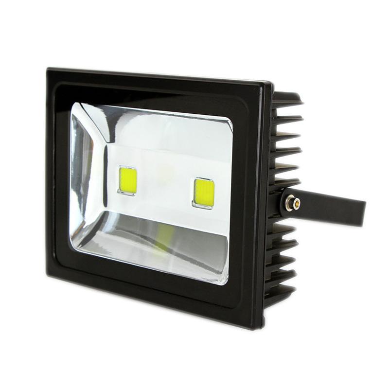 黑色一体化led投光灯50w100w150w照明灯防水防雷泛光灯工程照明灯