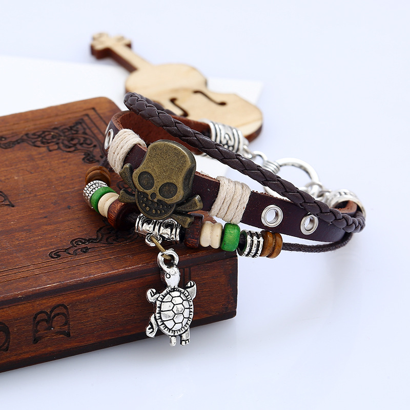 Occident and the United States CortexBracelet (The word buckle skull)NHNPK0899-The word buckle skull
