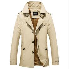 外贸男士棉大码夹克冬季男式加绒休闲外套中长款风衣潮厂家直销