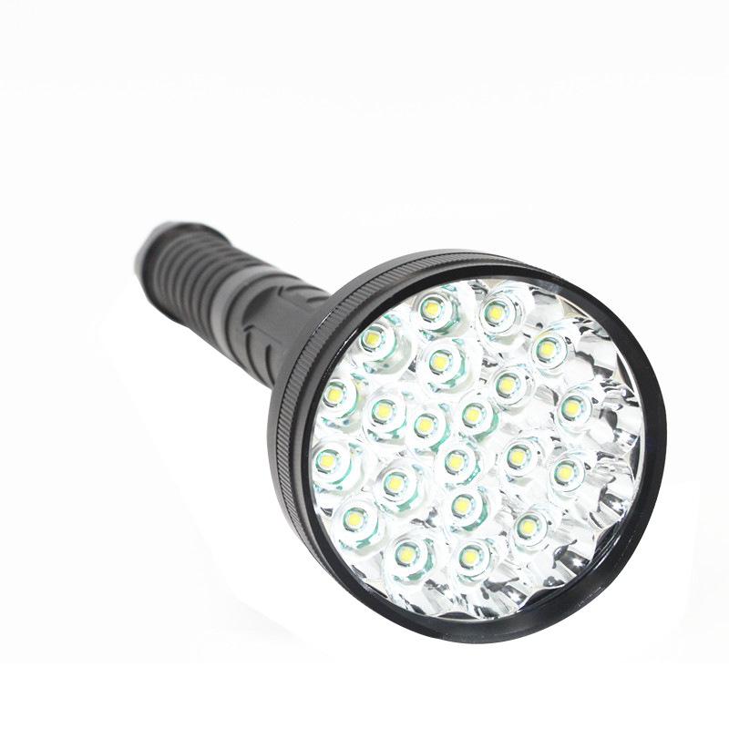 21灯T6强光远射手电筒 户外大功率20000流明LED强光手电 超长续航
