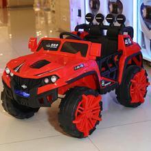 批發新款巡航者四驅兒童電動車男女孩可坐可遙控四輪電動汽車童車