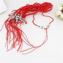 配飾項飾水晶真玉紅繩項鏈繩翡翠玉吊墜掛繩手工編織飾品配件