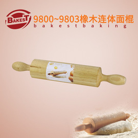 Roasted rolling pin oak with decent stick large and medium-sized DIY baking tool 9800 ≤ 9803