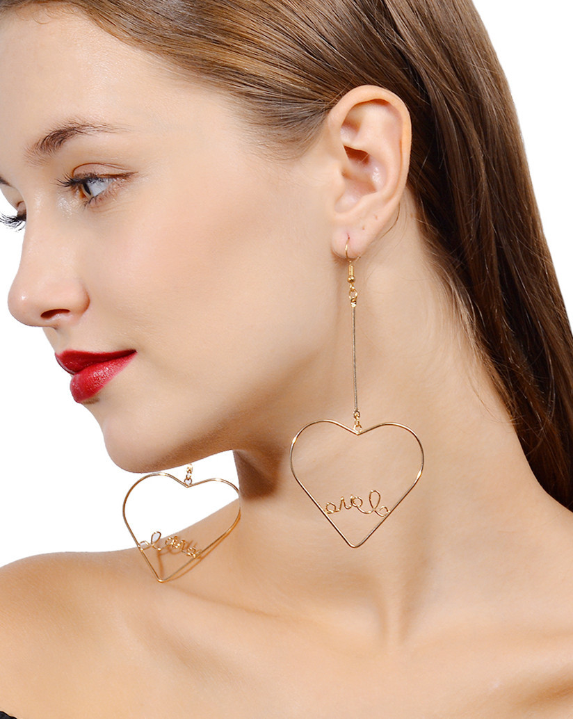 Simple alloy plating earring (B0571 silver)NHXR1447-B0571 silver