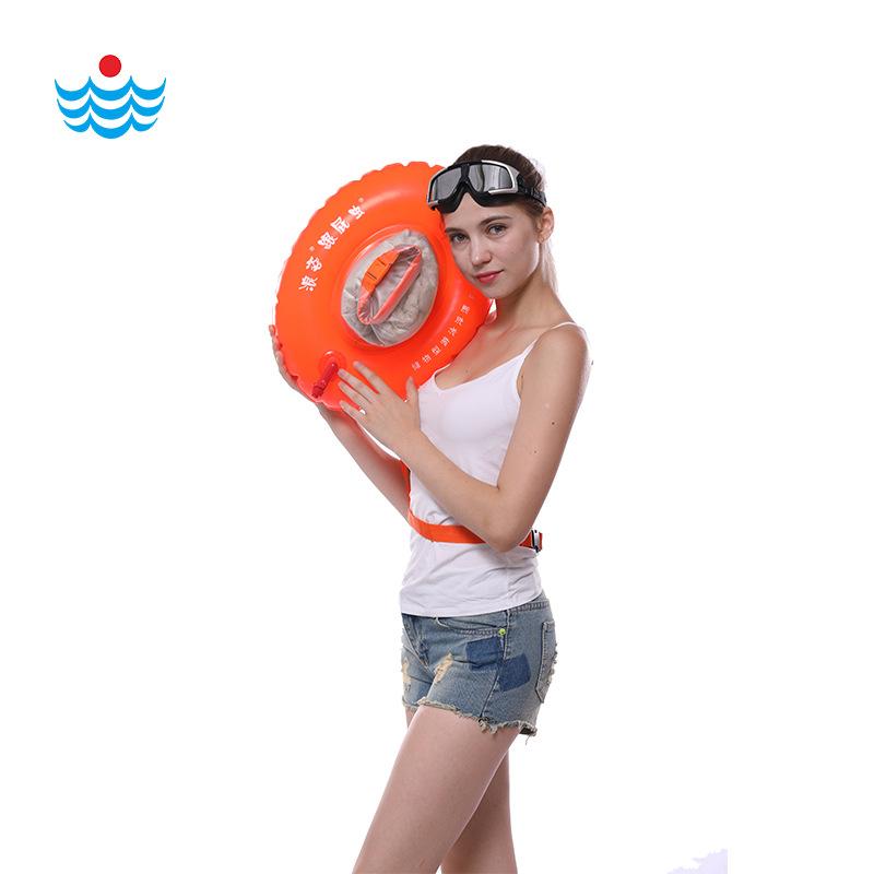 双气囊可装衣物透明款 防水游泳包袋 浪姿跟屁虫正品F-906