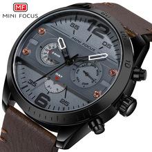 MINI FOCUS品牌手表 机械风潮流个性石英表防水夜光男手表0068G