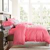 European simple pure cotton satin long staple cotton four piece American high-end villa model room bedding textile