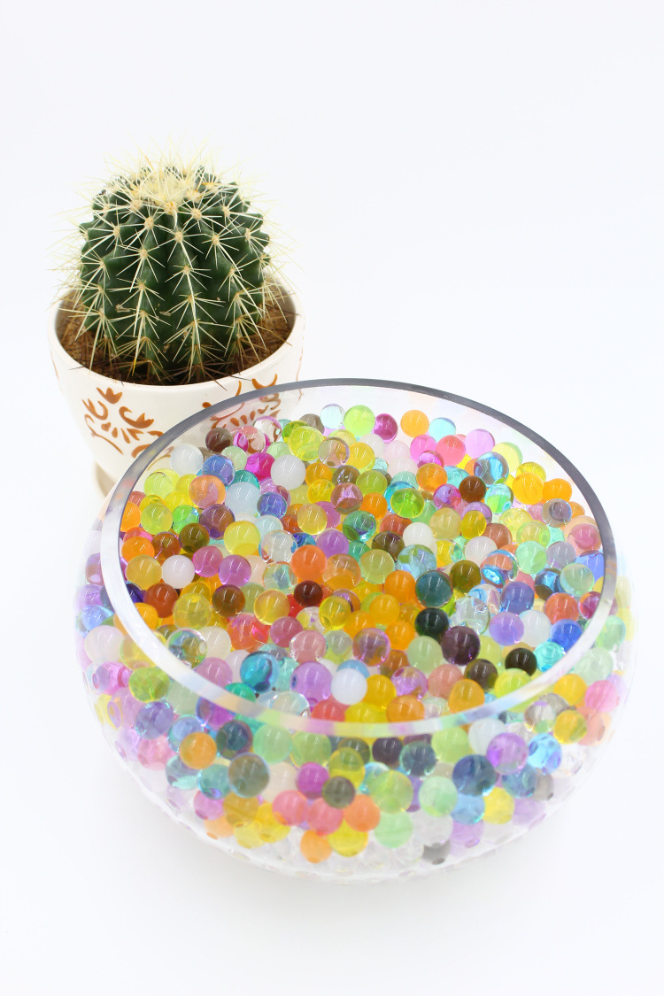 Water Plant Flower Jelly Crystal Soil Mud Water Pearls Gel Beads